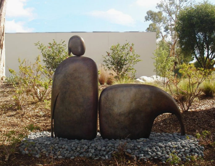 I Am Reclining - Robert Holmes sculpture