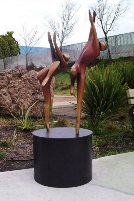 Just Dancing - Robert Holmes sculpture