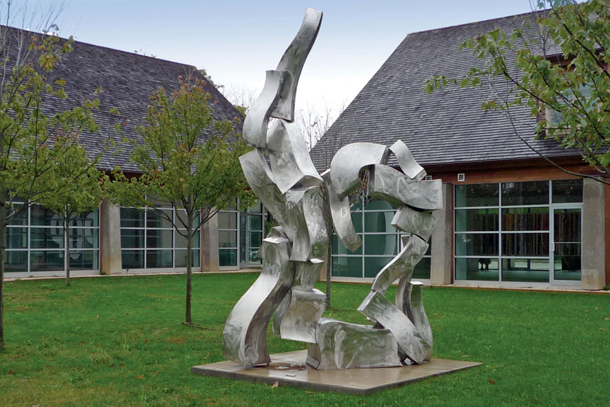 Van de Bovenkamp stainless steel sculpture Green Thunder.jpg