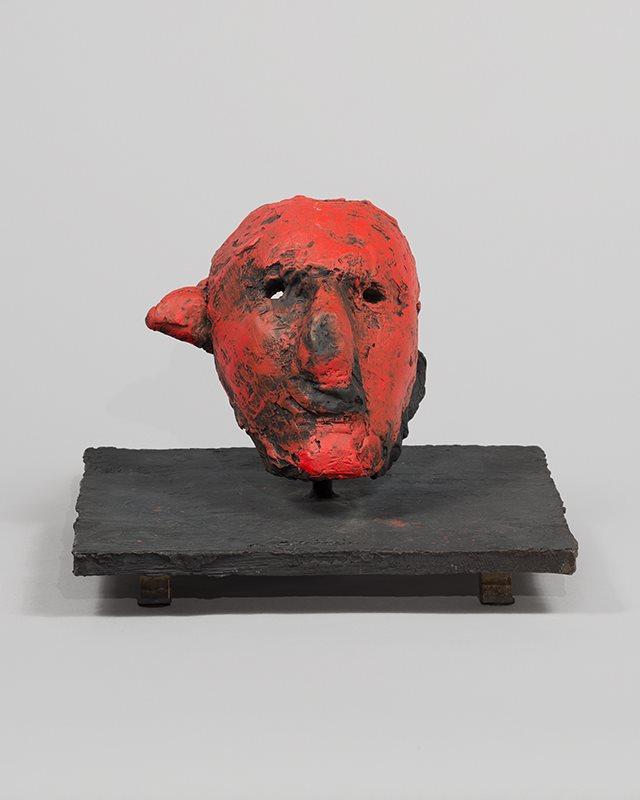 nathan oliveira bronze mask 6.JPG