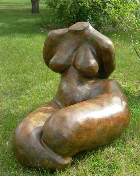 Mavis McClure - bronze reclining torso