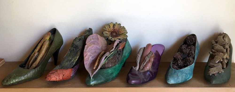 Steve Tobin - various bronze shoes, all unique single castings