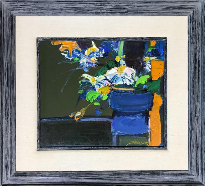 "Henrietta Berk - mixed bouquet oil on canvas 14"" x 12"" sold"