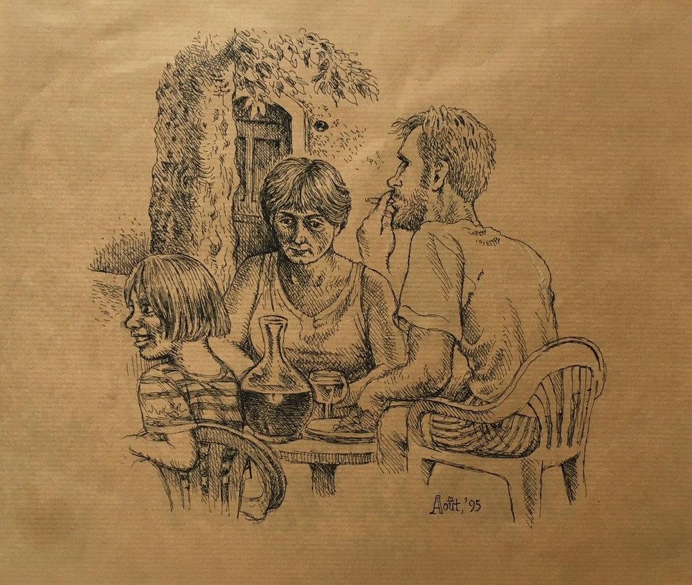 """Robert Crumb - 12""""x10"""" pen on paper"""