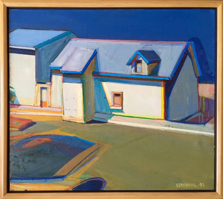 Raimonds Staprans house with blue trim - available