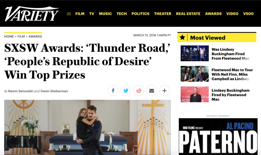 Variety- SXSW Awards