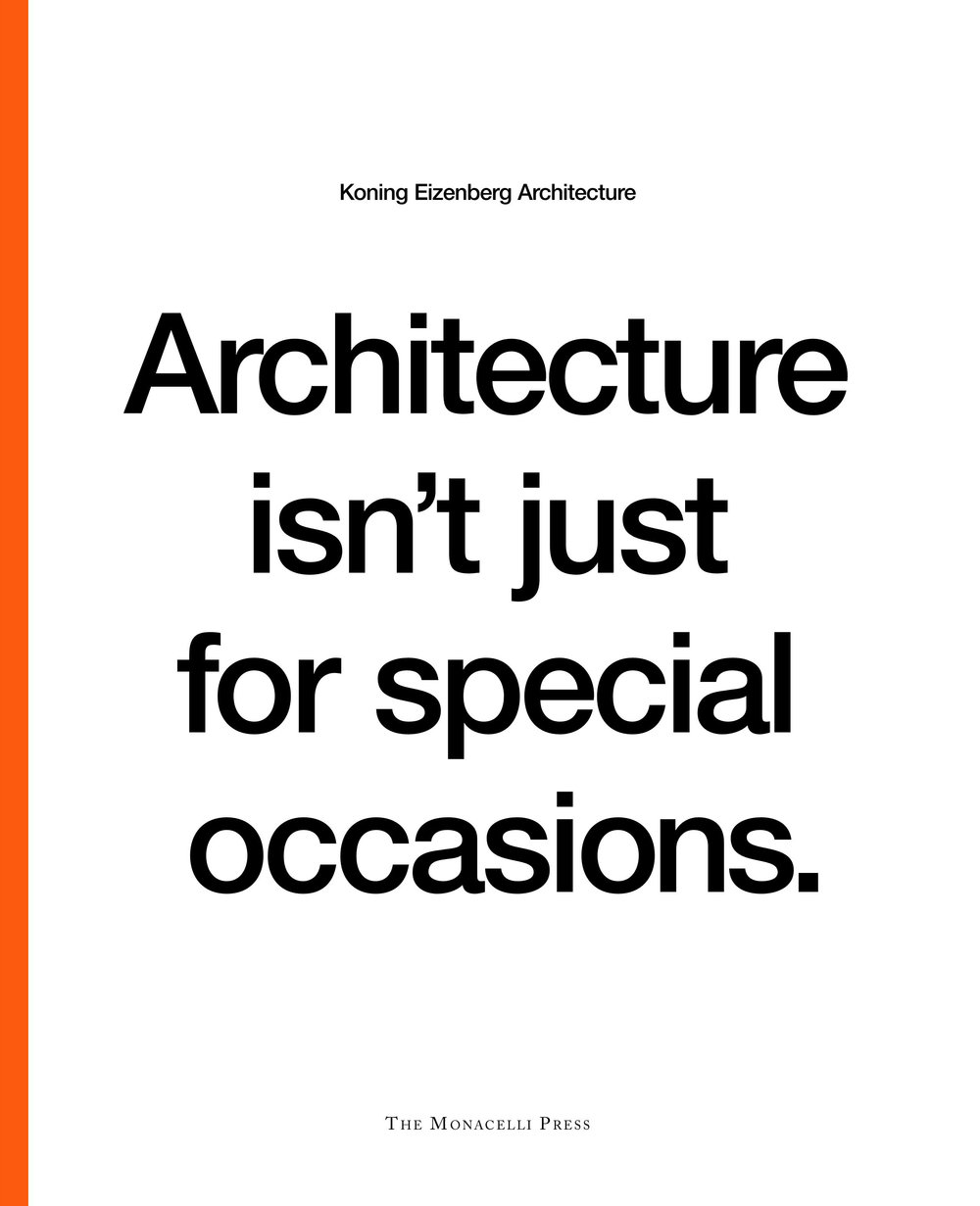 Architecture isn't just for special occasions, 2006