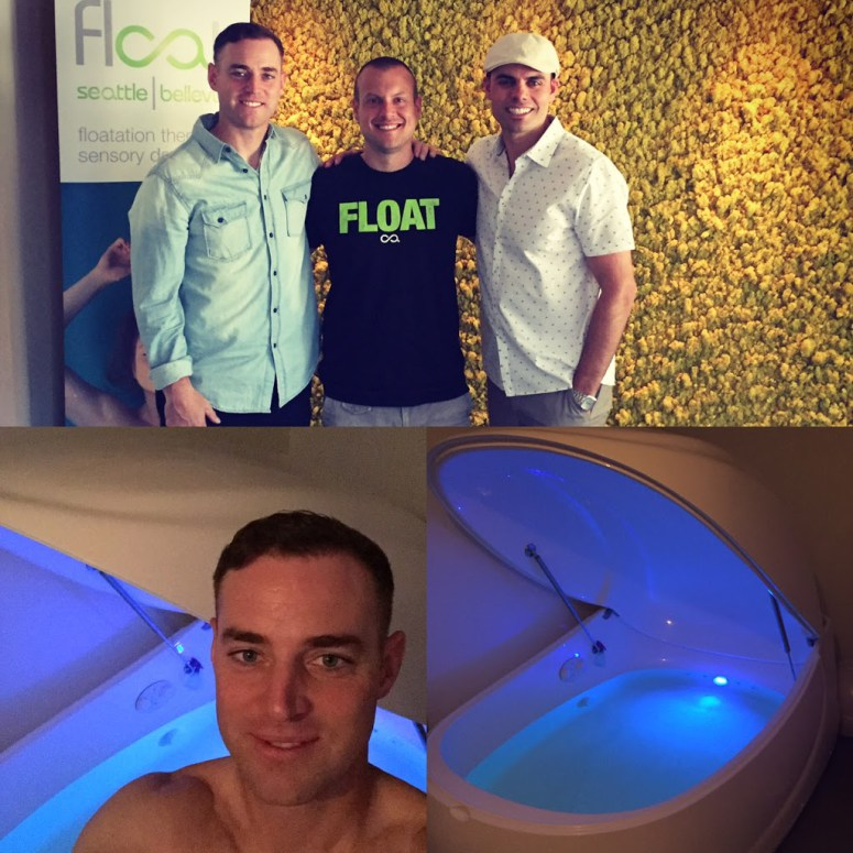 Here's a recent shot of me doing sensory deprivation therapy and meditation at  Float Seattle/Bellevue . Shout out to Sean Mac and B. Hop!