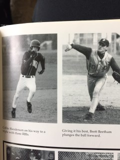 """That's me on the left and my buddy since we were 6 years old, Brett the """"Beast"""" Beetham on the right. We were later teammates again at WSU."""