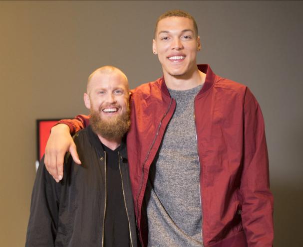 Coach Betchart and NBA superstar Aaron Gordon