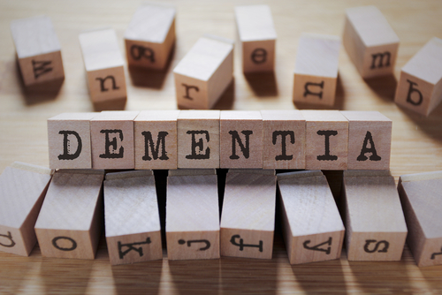 Dementia Word In Wooden Cube