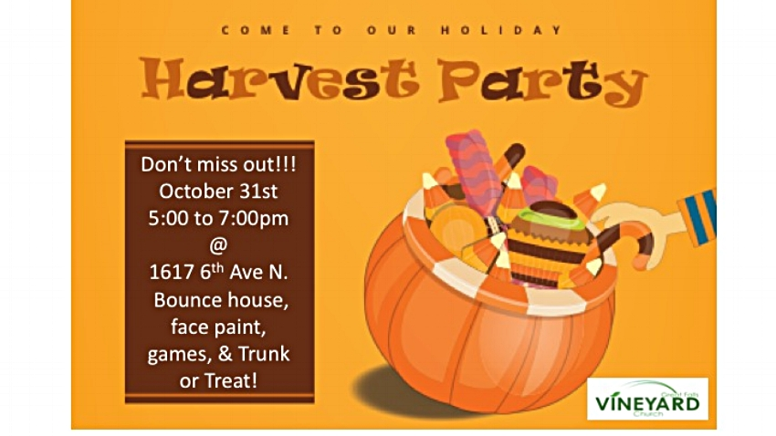 Harvest Party - Don't Miss out!