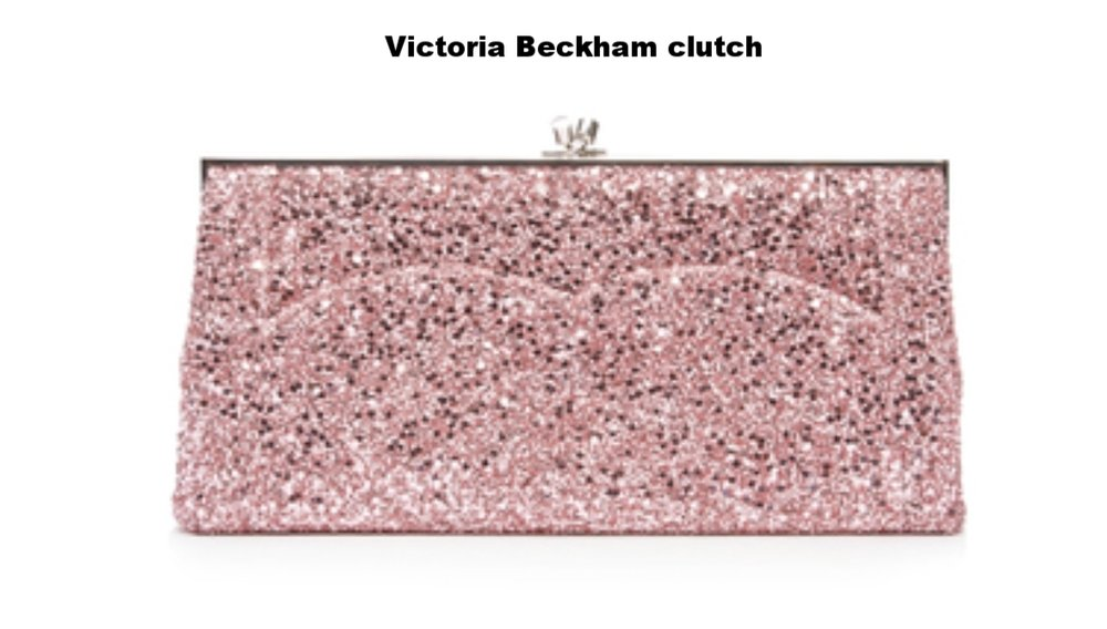If you're a girly bride then this Victoria Beckham jeweled clutch should be your trademark accessory! The bubble gum pink color adds a festive, unexpected dash of elegance.