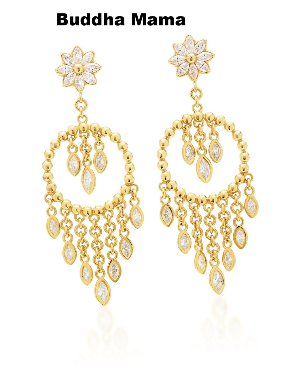 Diamonds are always a good idea. And while studs are always a chic choice, if you're a hoping for an epic look that stands alone, these chandelier earrings are a must-have. And once your big day is over, you can wear these with anything from jeans to sundresses.