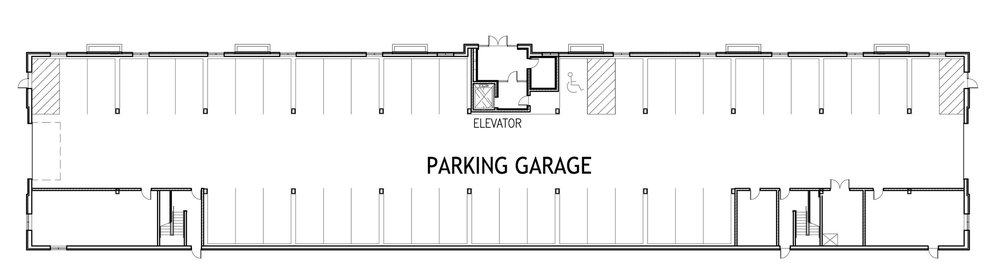 No epically long waiting lists for parking here. There is an indoor heated garage with opt-in parking spots available for all residents. Indoor heated parking rental prices start at  $125  per month