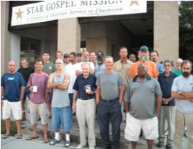 My ginger head is poking up in the back left. Photo courtesy of The Star Gospel Mission.