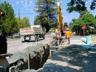 Street Sewer Digging