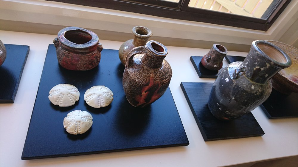 Photo from Gulgong potter Chester Nealie's exhibition at Clay Gulgong 2016.