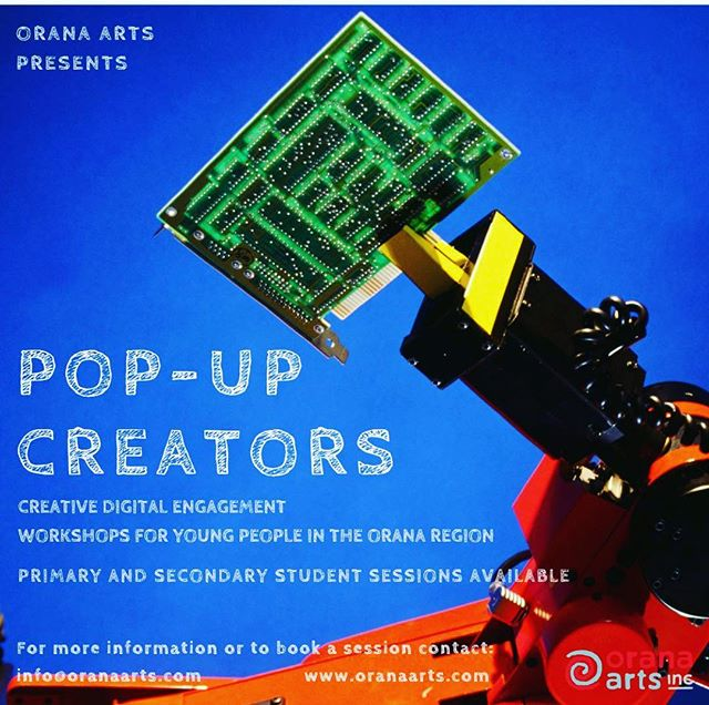 Announcing Pop-Up Creators, the digital engagement program designed to enhance coding and design skills in Orana Region communities. If you are interested in having a #popupcreators workshop in your school, library or community space please contact our Digital Projects Officer Shelby via info@oranaarts.com  #digitalcreatives #coding #digitaldesign #artandrobots #artandeducation #digitalprojects #oranaregion #communityengagement #youth #youthengagement #skillbuilding