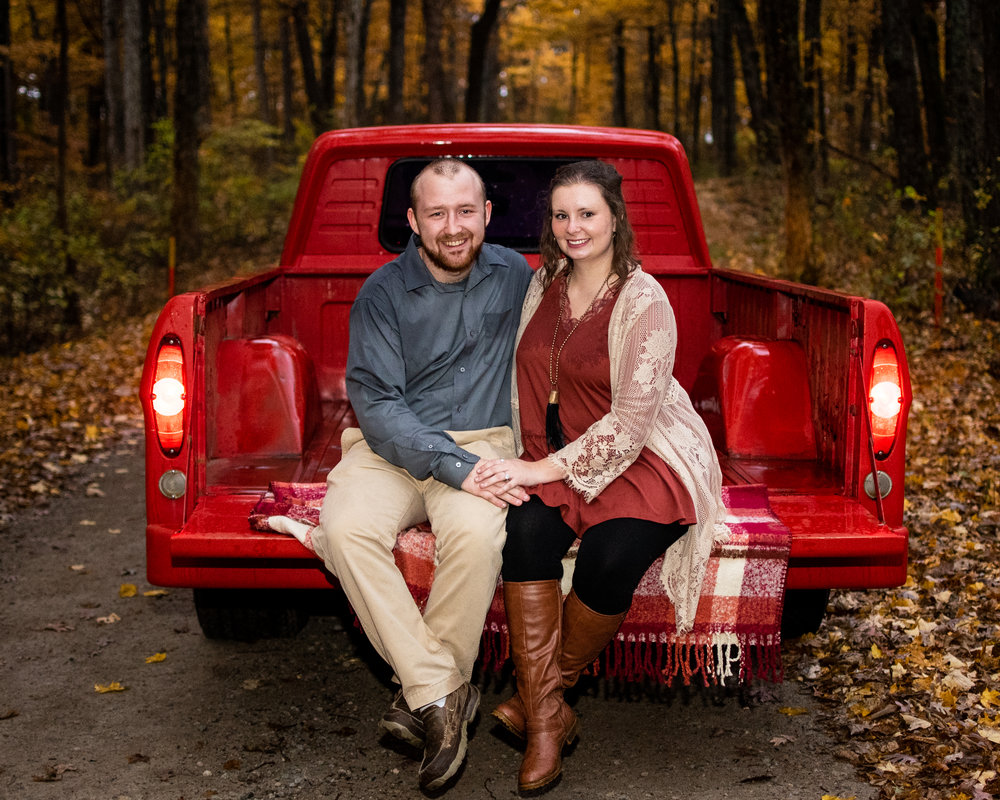 Kyla Jo Photography Muncie Indiana Photographer Midwest Photographer Southern Indiana Freetown Engagement and Wedding Photographer Vintage Red Truck