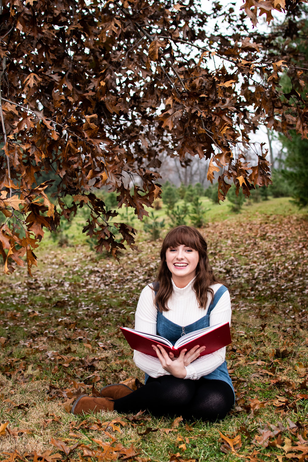 Kyla Jo Photography // Senior Session // Muncie Indiana // Whitetail Tree Farm // Whimsical Senior Photos // Harry Potter // Outdoor Senior Photos // Christmas Tree Farm