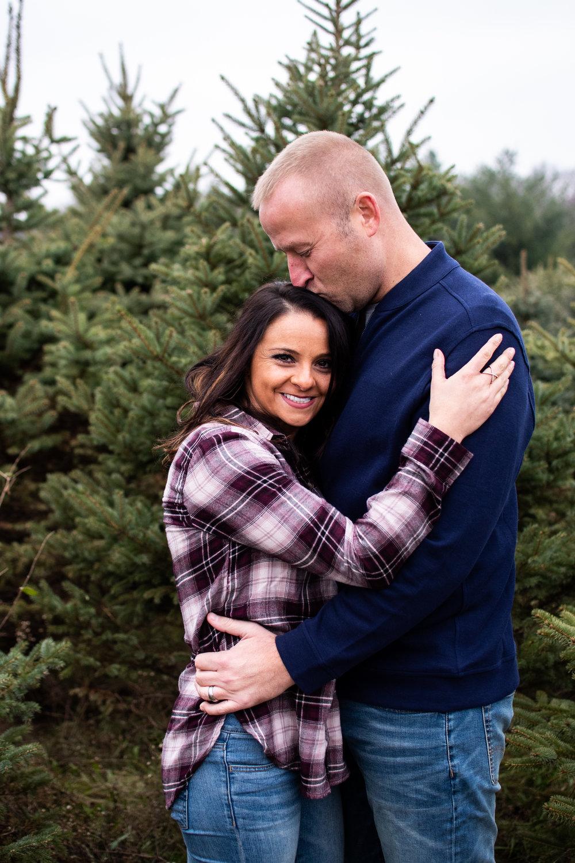 Kyla Jo Photography // Muncie, Indiana Photographer // Whitetail Tree Farm Christmas Tree Farm between Muncie Indiana and New Castle // Family Photo Session // Midwest Family Photographer // Couple Photographer