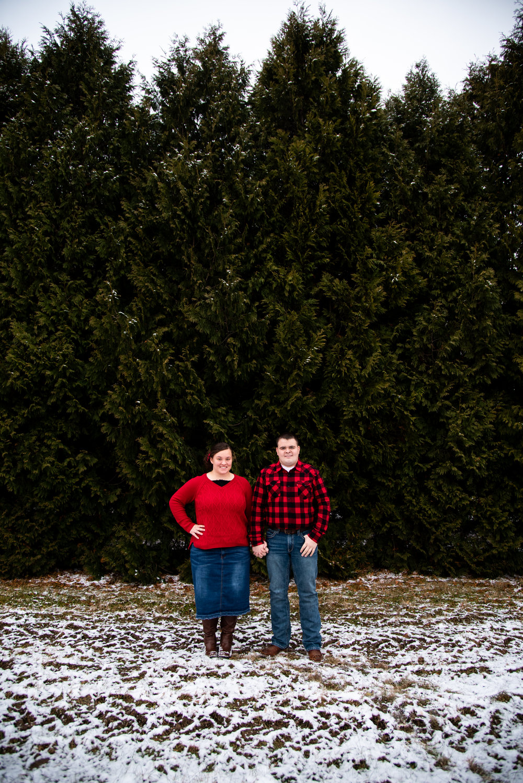 Kyla Jo Photography // Muncie, Indiana // Couple Photographer // Whitetail Tree Farm // Christmas Photos // Midwest Photographer // Indianapolis Photographer // Snow Photos