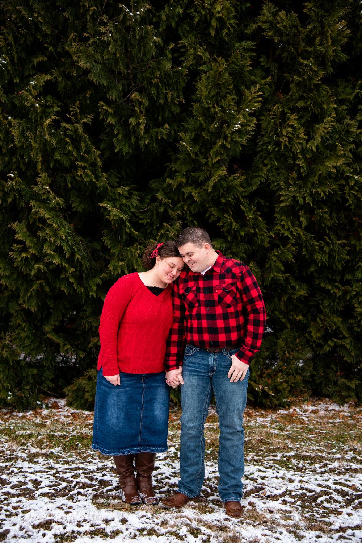 Kyla Jo Photography // Muncie, Indiana // Couple Photographer // Whitetail Tree Farm // Christmas Photos // Midwest Photographer // Indianapolis Photographer