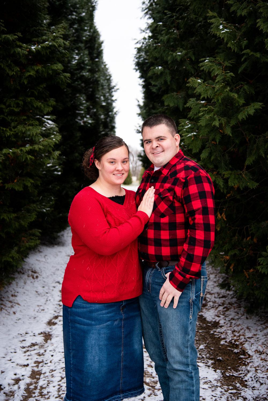 Kyla Jo Photography // Muncie, Indiana // Couple Photographer // Whitetail Tree Farm // Christmas Photos // Midwest Photographer // Indianapolis Photographer // Pentecostal Couple