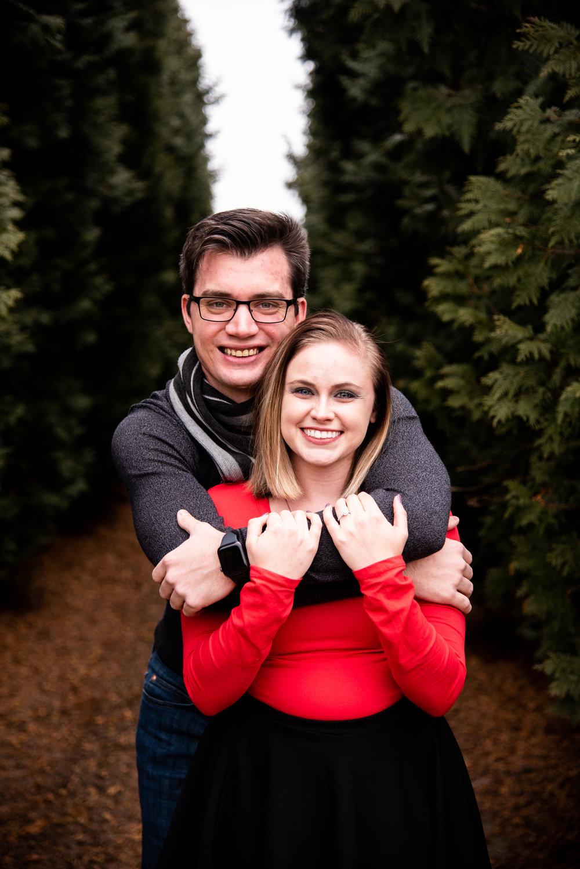 Kyla Jo Photography // Muncie, Indiana // Engagement Photos // Engagement Session // Muncie Indiana Photographer // Midwest Photographer // Whitetail Tree Farm // Couple Photos