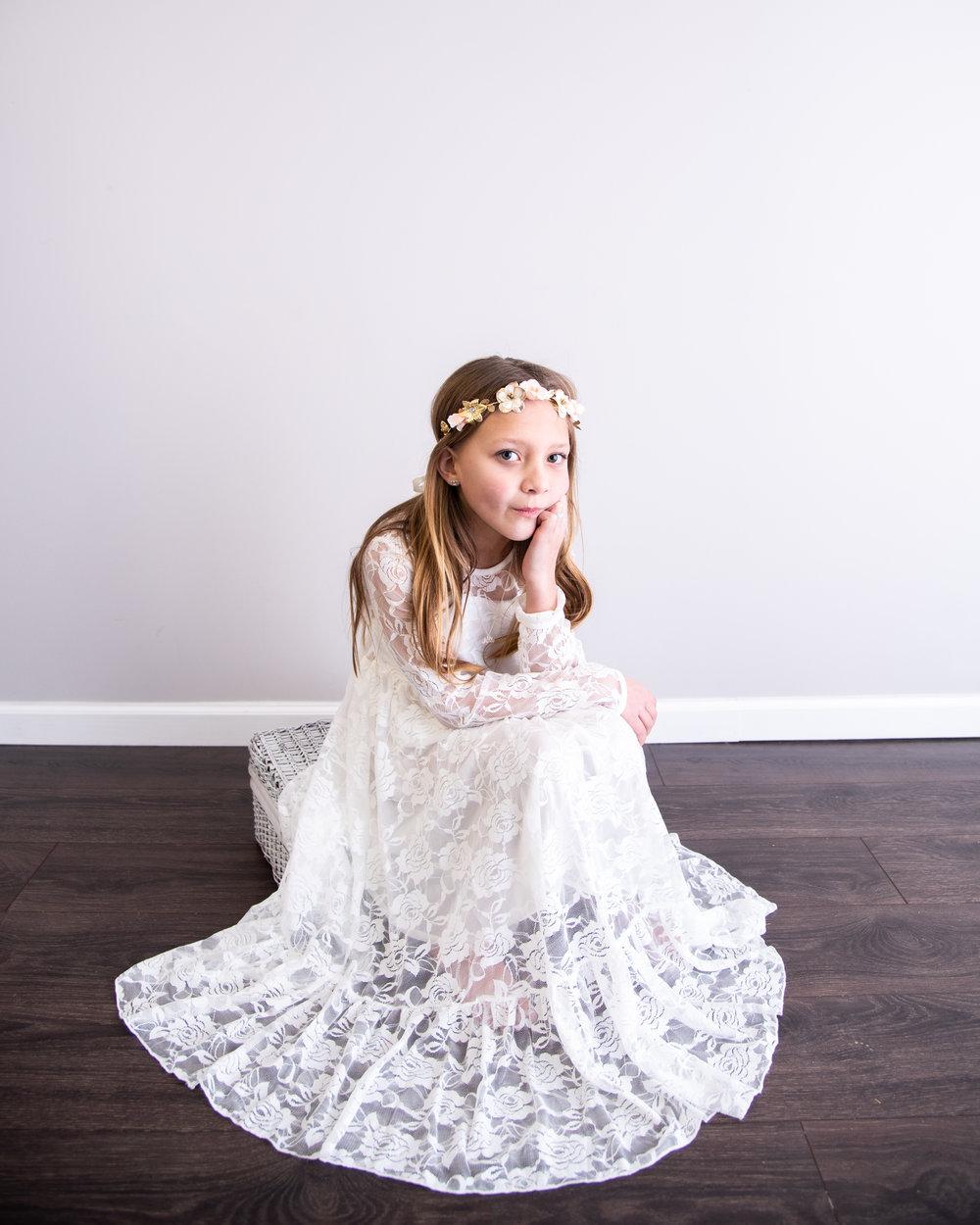 Kyla Jo Photography // Muncie, Indiana Photographer // Indiana Photographer // Midwest Photographer // 8 year old portraits // kids in studio // kids photos