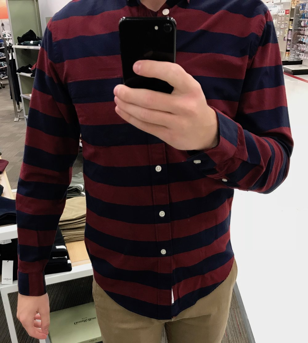 Standard Fit Striped Oxford Shirt - $24.99