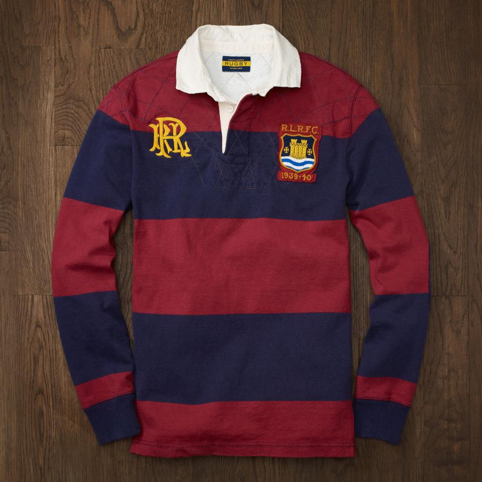 A Ralph Lauren rugby long sleeve polo shirt