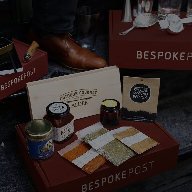 Bespoke Post - A prcier, more premium box that brings you everything from clothing, accessories, to cooking supplies.