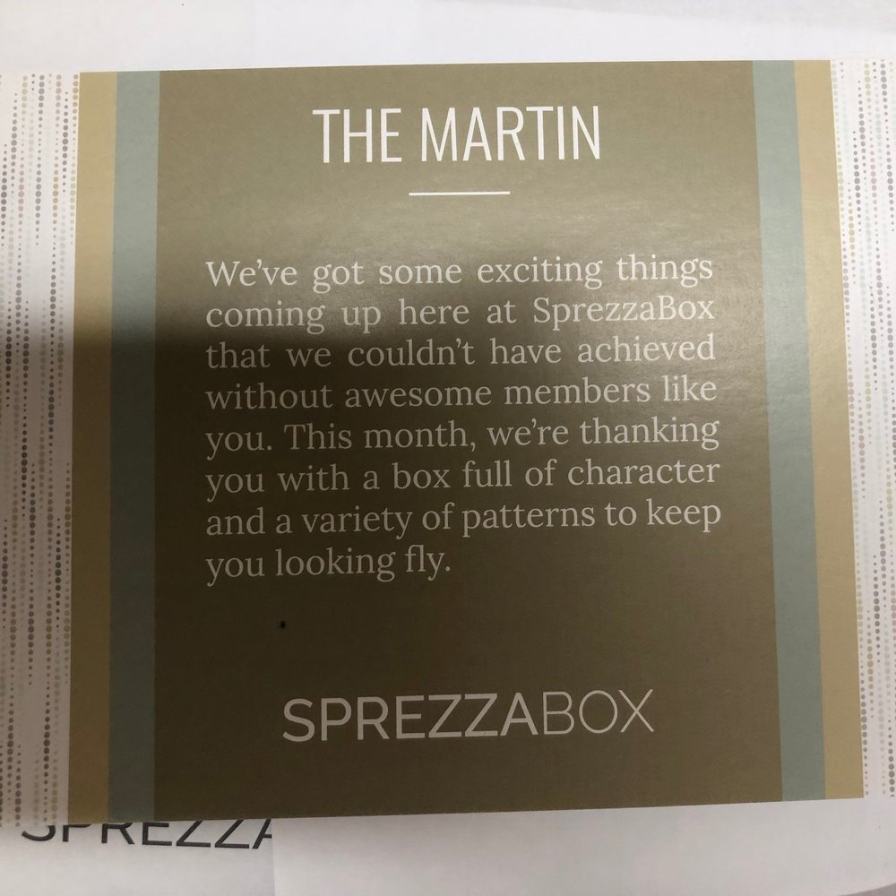 SprezzaBox - $28 per month