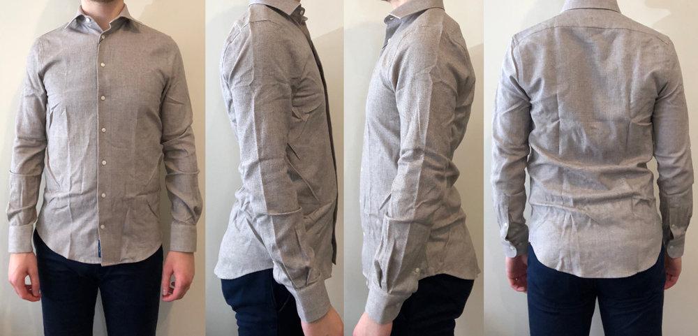 Brown plain shirt fit