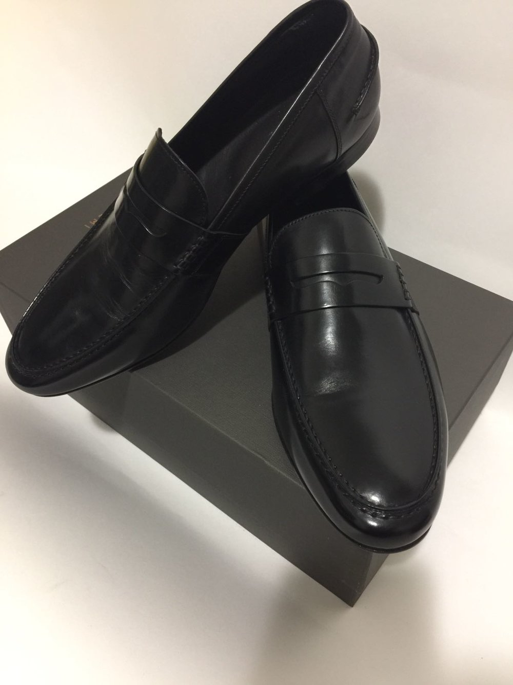 The M.Gemi black penny loafer