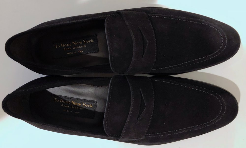 f4a14a55bfe A Review of the Beautiful   Rare Black Suede Loafer from  To Boot New York
