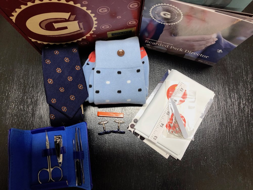Example of the contents of a recent Gentleman's Box