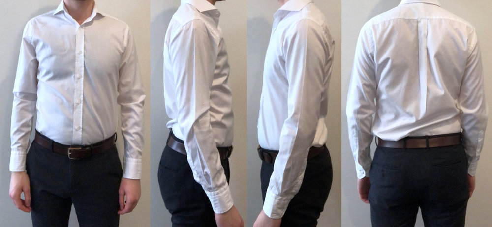 White dress shirt fit