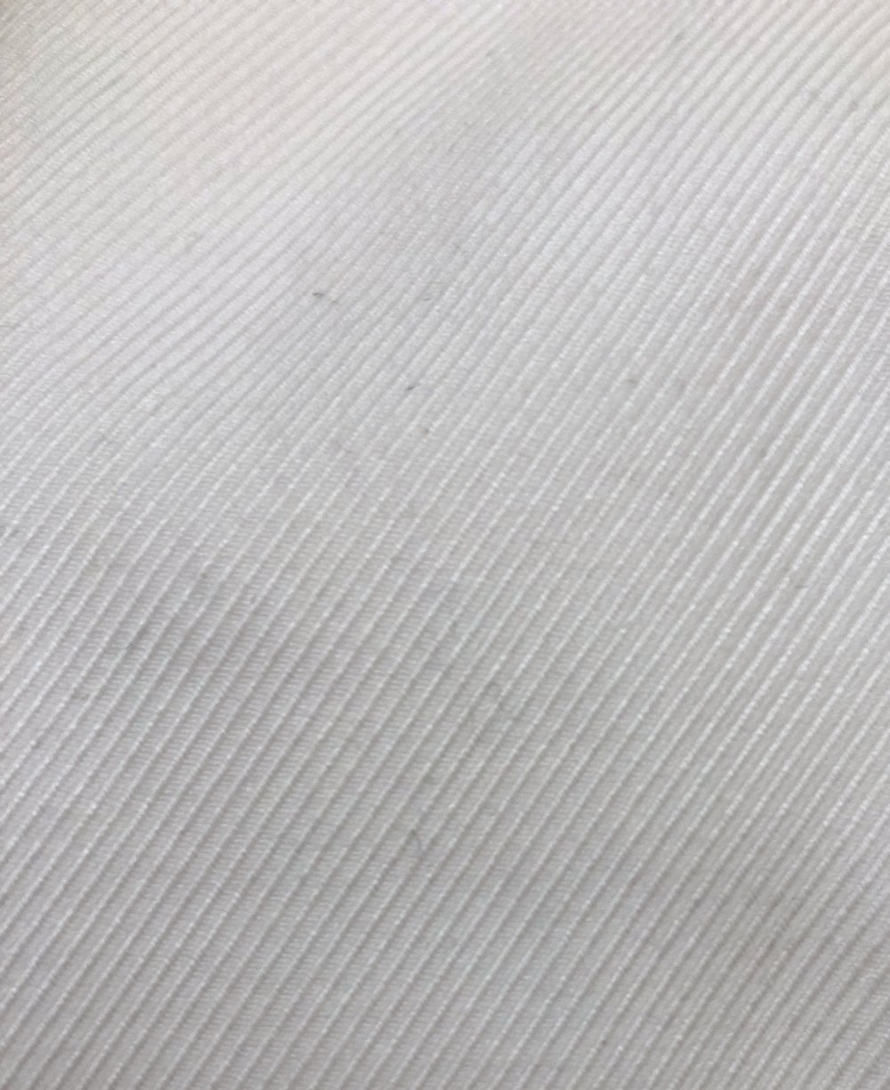 A close-up of that luxurious white twill