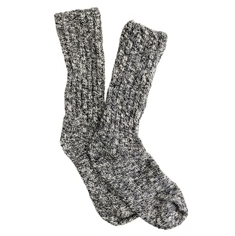 Great example of textured, marled socks