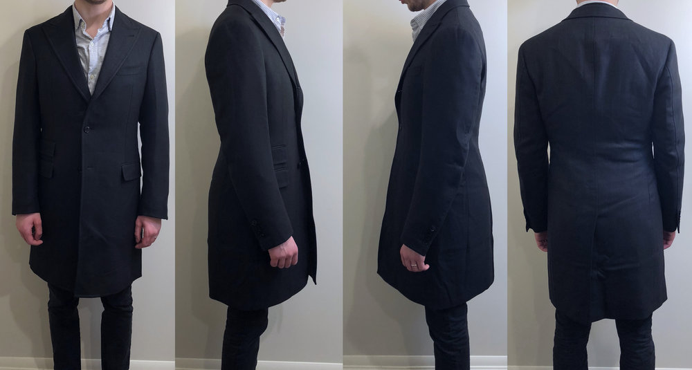 First fitting picture, with suit jacket beneath