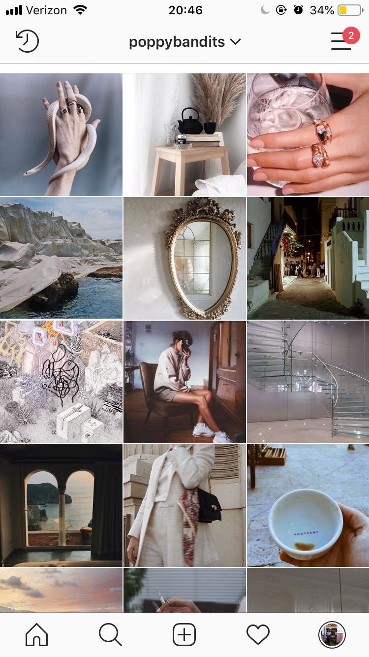 instagram moodboard - Curating content is my favorite pastime. I use poppybandits as my moodboard for elevated, minimal, and impactful content that I find across the internet.