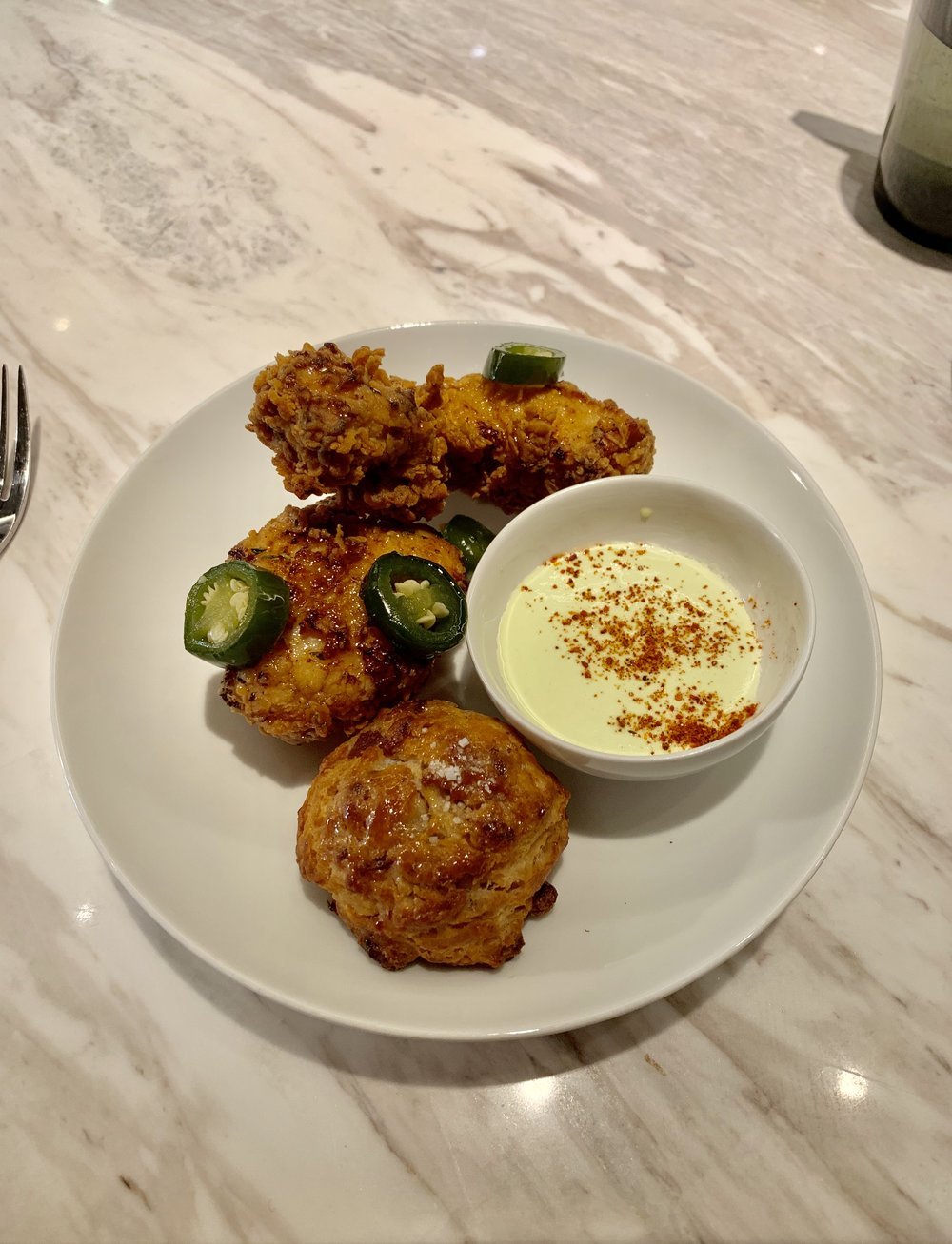 Fried Chicken at Intersect by Lexus