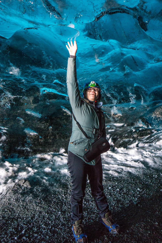 Caving in Vatnajökull.