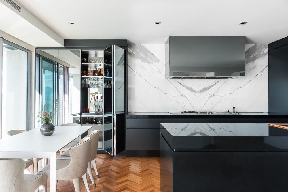 Rina Cohen Interiors, RCI Designs, Interior Design Award Winning Kitchen Overall,Drinks Cabinetry
