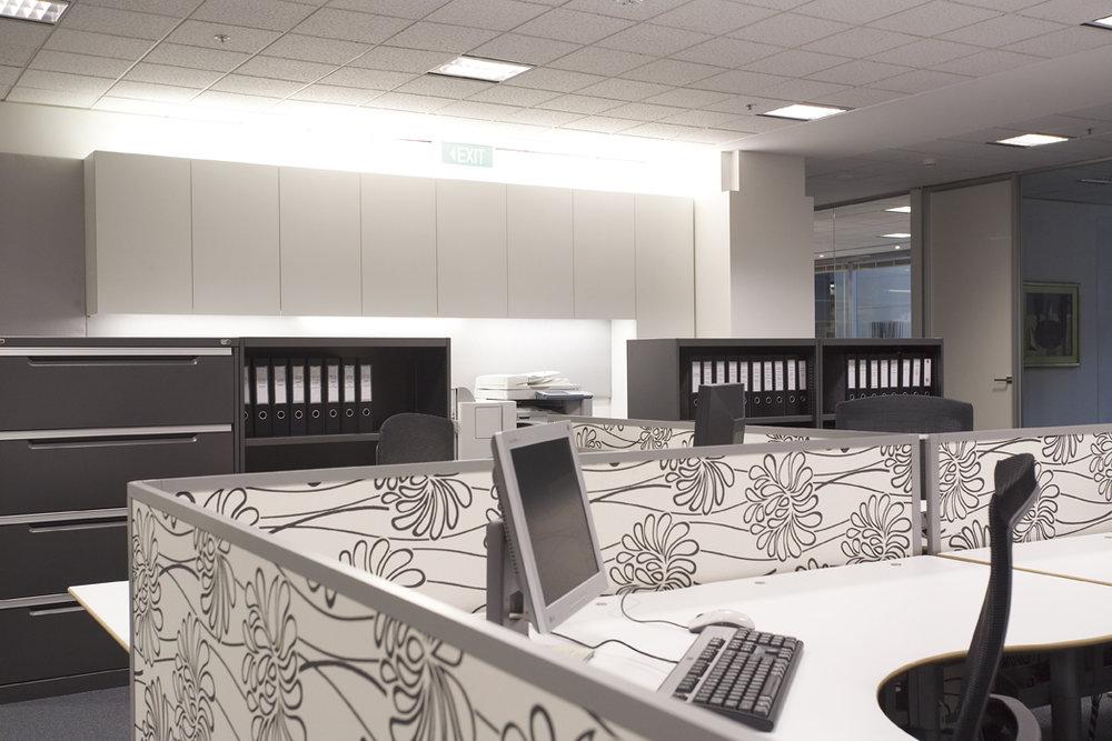 Rina Cohen Interiors, RCI Designs, Interior Design, Workstation view CBD Offices