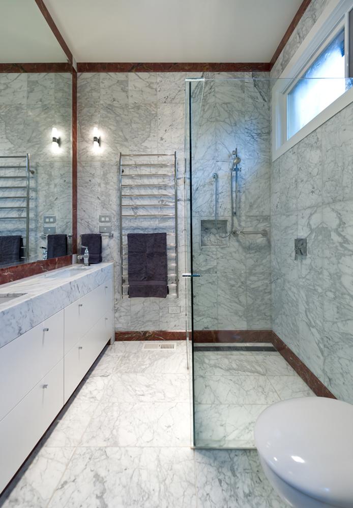Rina Cohen Interiors, RCI Designs, Interior Design, RCI Designs compact master bathroom