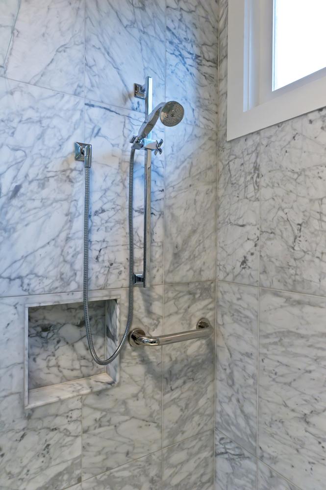 Rina Cohen Interiors, RCI Designs, Interior Design, RCI Designs compact master bathroom, Marble shower